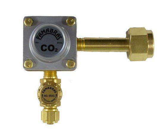 Regulador de Pressão Pré Calibrado Famabras FR-420HS 2,5 Kgf/cm² CO2