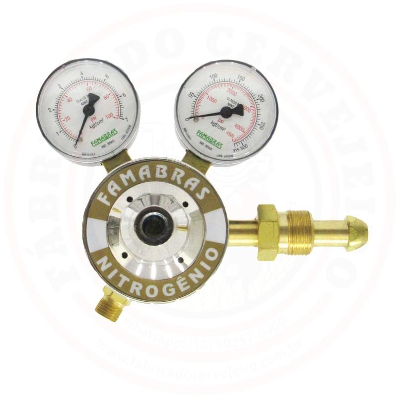 Regulador de Pressão para Nitrogênio (N2) 1 Saída Famabras