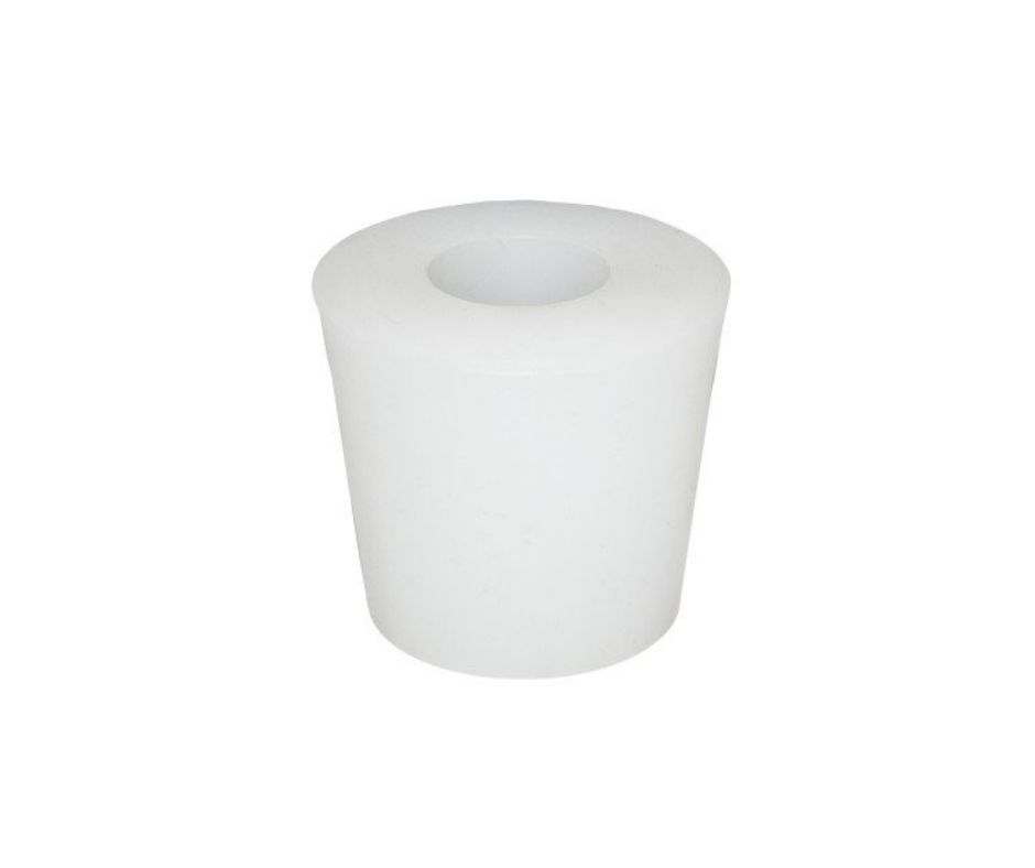 Rolha de Silicone N10 Com Furo 38x33x27mm