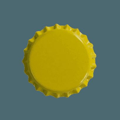 Tampinhas Pry Off Amarelas Pacote com 100 Unidades