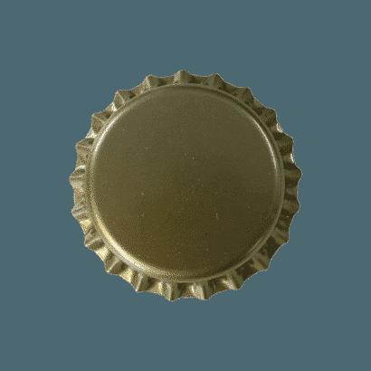 Tampinhas Pry Off Douradas Pacote com 100 Unidades