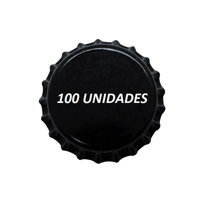 Tampinhas Pry Off Pretas 210g 100 Und
