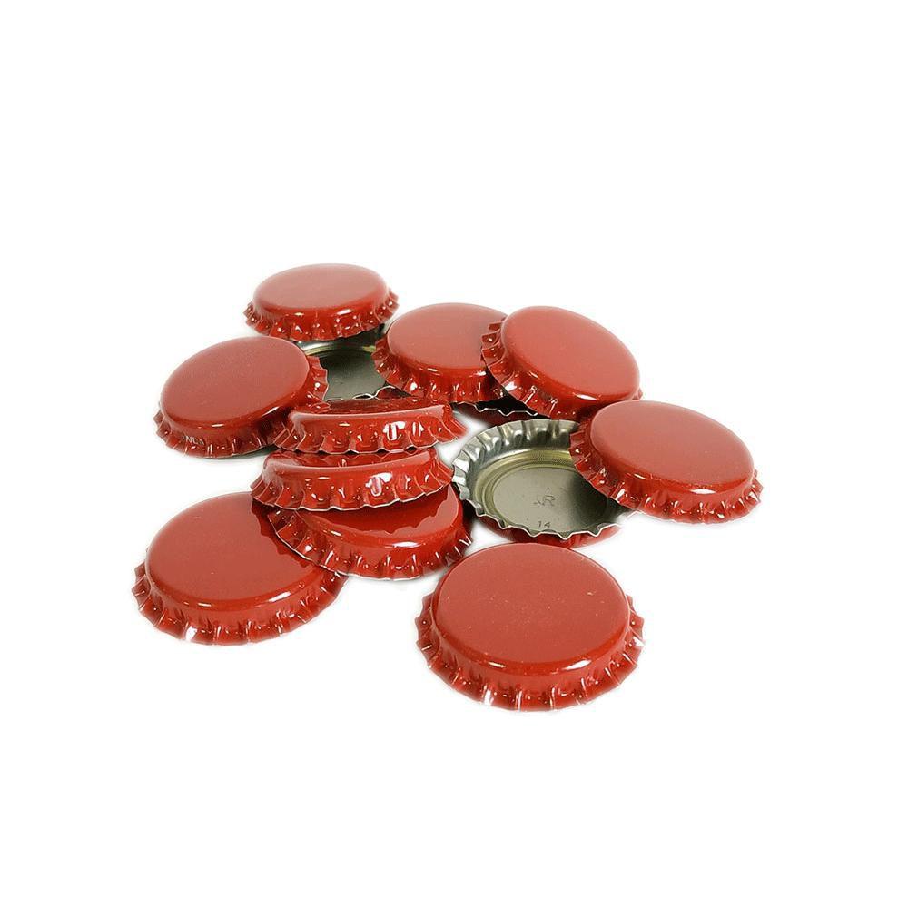 Tampinhas Pry Off Vermelhas Pacote com 100 Unidades