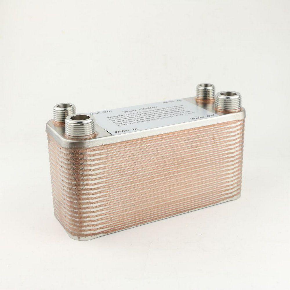 Trocador de Calor Chiller 40 Placas Rosca Macho BSP Mosto 1/2