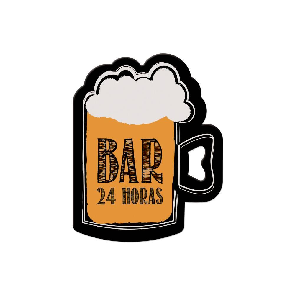 Abridor de Garrafa Imã Chopp Bar 24hrs