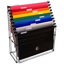 Arquivo Aramado com 10 pastas suspensas coloridas
