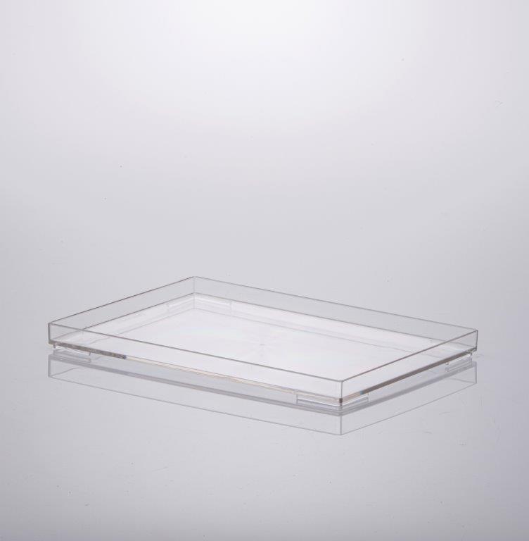 Bandeja 25x17x2 cm cristal