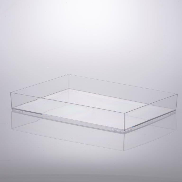 Bandeja 34,5 x 25 x 4,7 cm cristal