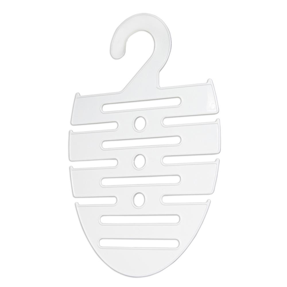 Cabide para Gravatas e Cintos Branco