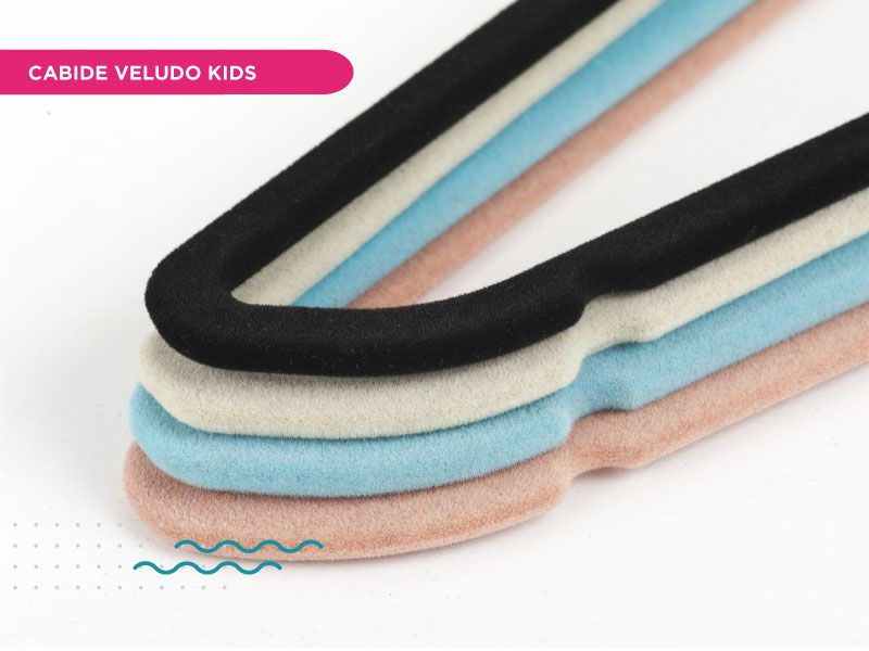 Cabide Veludo Fixel Slim Kids