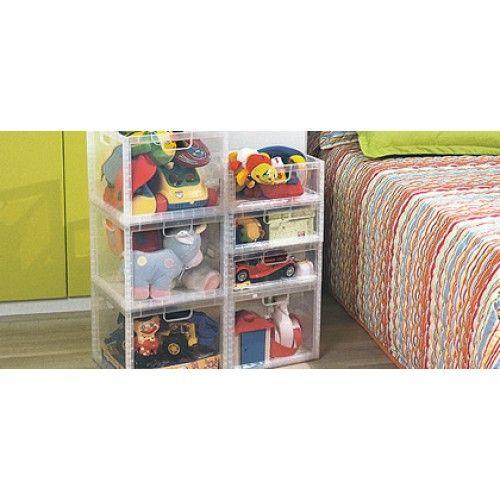 Caixa Organizadora De Brinquedos Alto - Cristal