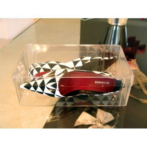 Caixa Organizadora de Plástico Acetato Transparente para Sapatos Altos - Inbox