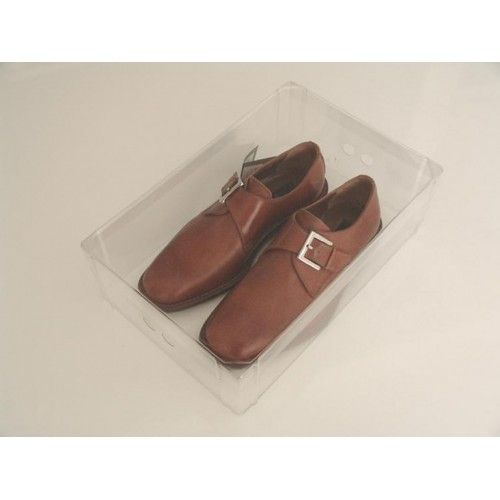 Caixa Organizadora De Plástico Transparente Para Sapatos Masculinos - Inbox
