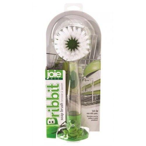Escova de Limpeza com Reservatório para Detergente Sapinho
