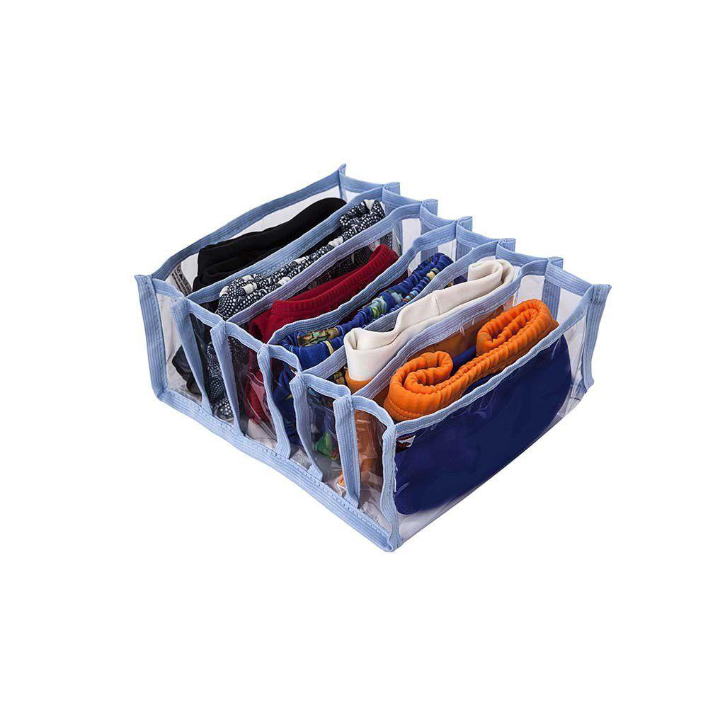 Kit 4 Colmeias Organizadoras de Gavetas-18x22x8,5cm - 6 nichos Bege