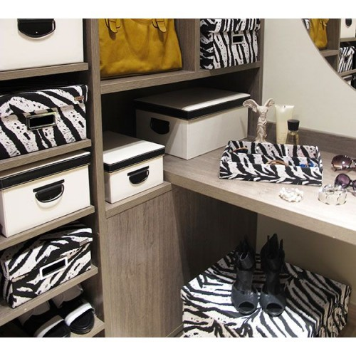 Kit com 3 Caixas Organizadoras Retangulares Safari - Zebra