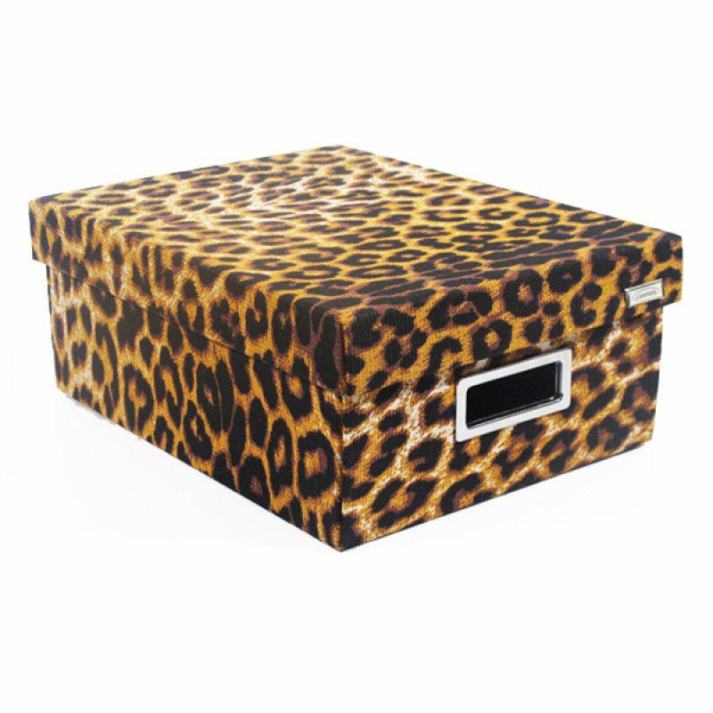 Kit com 3 Caixas Organizadoras Retangulares Safari - Onça