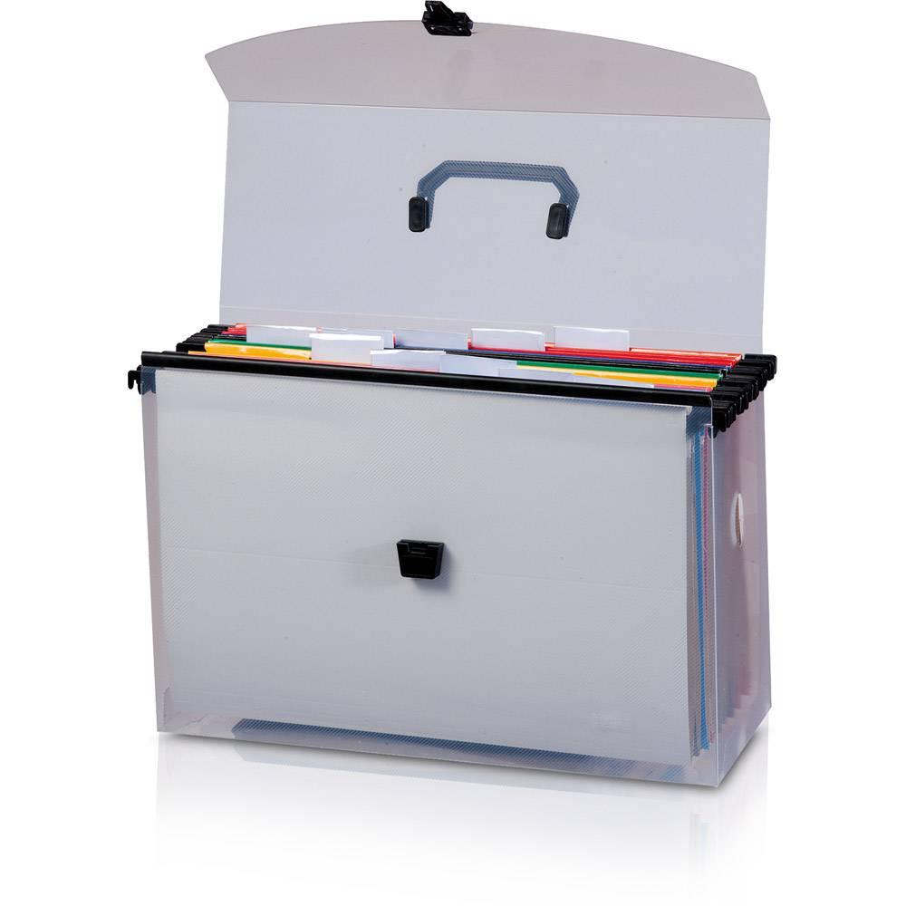 Maleta Organizadora de Arquivo com 10 pastas coloridas