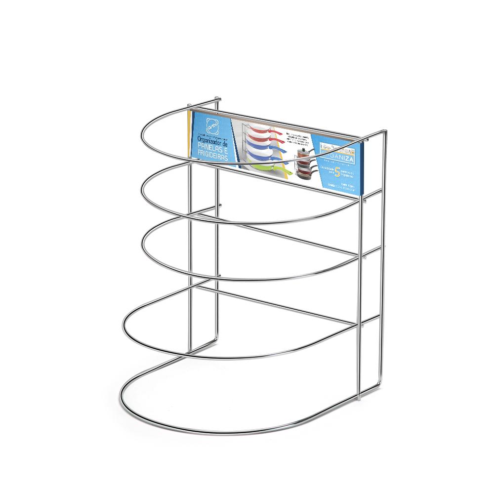 Organizador de Panelas/frigideiras Cromado