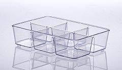 Organizador Diamond com Divisória 25x18x6cm