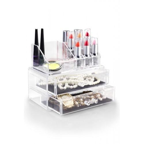 Organizador Porta Maquiagem Transparente - 3 Andares
