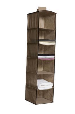 Organizador Vertical Em Tecido Para Closet - 6 Nichos