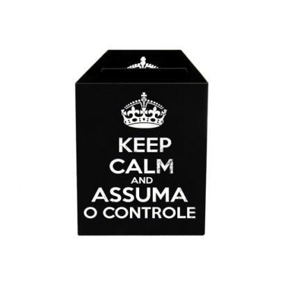 Porta Controle Keep Calm E Assuma O Controle