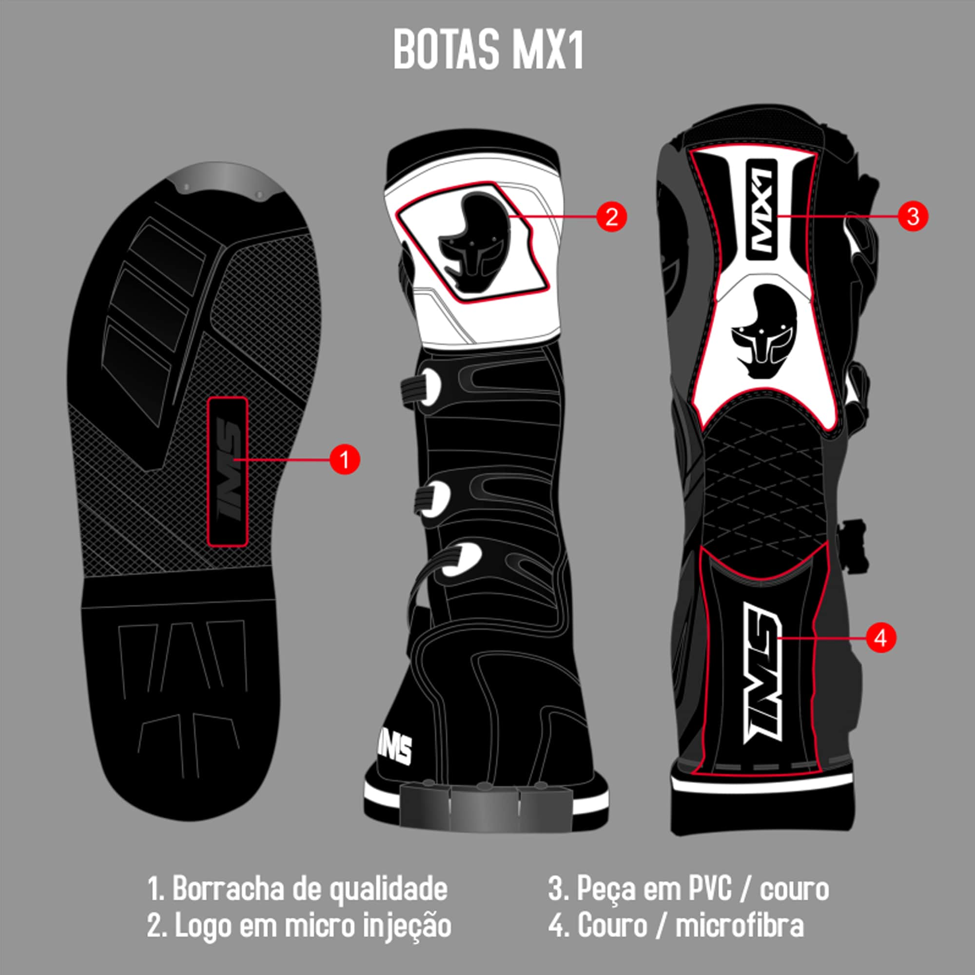 Bota IMS MX1  - HP Race Off Road