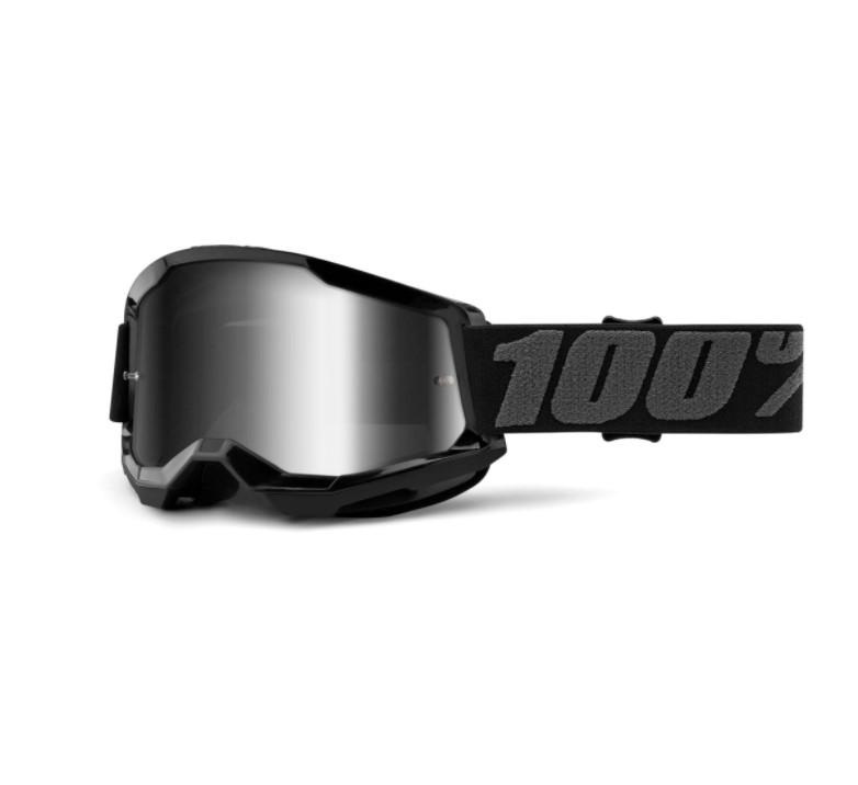 Óculos 100% Strata 2 Espelhado Black   - HP Race Off Road