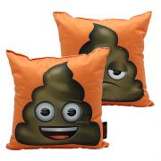 Almofada Almofada emoji cocozinho Fibra de Veludo 25 x 25