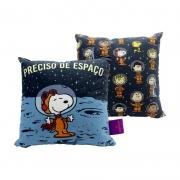 Almofada Snoopy no Espaço Fibra de Veludo 25 x 25