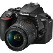 CÂMERA NIKON DSLR D5600 COM LENTE AF-P DX DE 18-55MM VR. 24.7MP, FULL HD, WI-FI