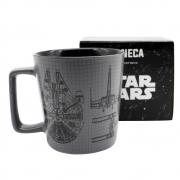 Caneca Buck 400ml Star Wars naves