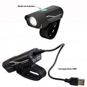 Farol Bike Led Compacto Super Forte 1000 Lumens Com Bateria