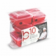 Kit 10 potes plásticos (estilo tupperware) Plastbon 1429c