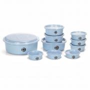 Kit 10 potes plásticos (estilo tupperware) Plastbon 1036