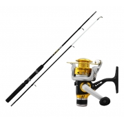 Kit Vara Kara Black + Molinete Albatroz Fishing Andorinha 100