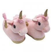 Pantufa unicornio c/asas rosa zona criativa 10071653