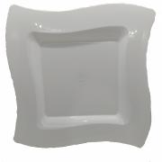 Prato Raso Material Plastico 25cm 6 Pçs