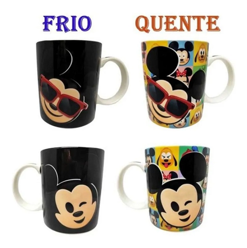 Caneca Magic Mickey e Minnie Emoji 300 Ml