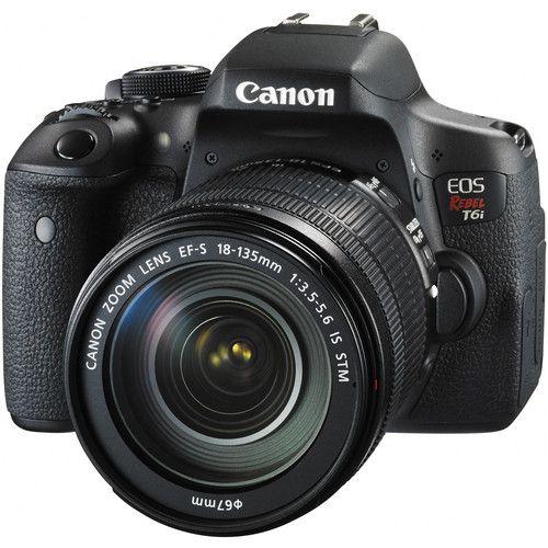 CANON EOS REBEL T6I EF-S 18-135MM IS STM 24.2 MP, FULL HD, WI-FI