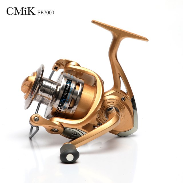 Molinete CMiK FB7000 direito/esquerdo Dourado
