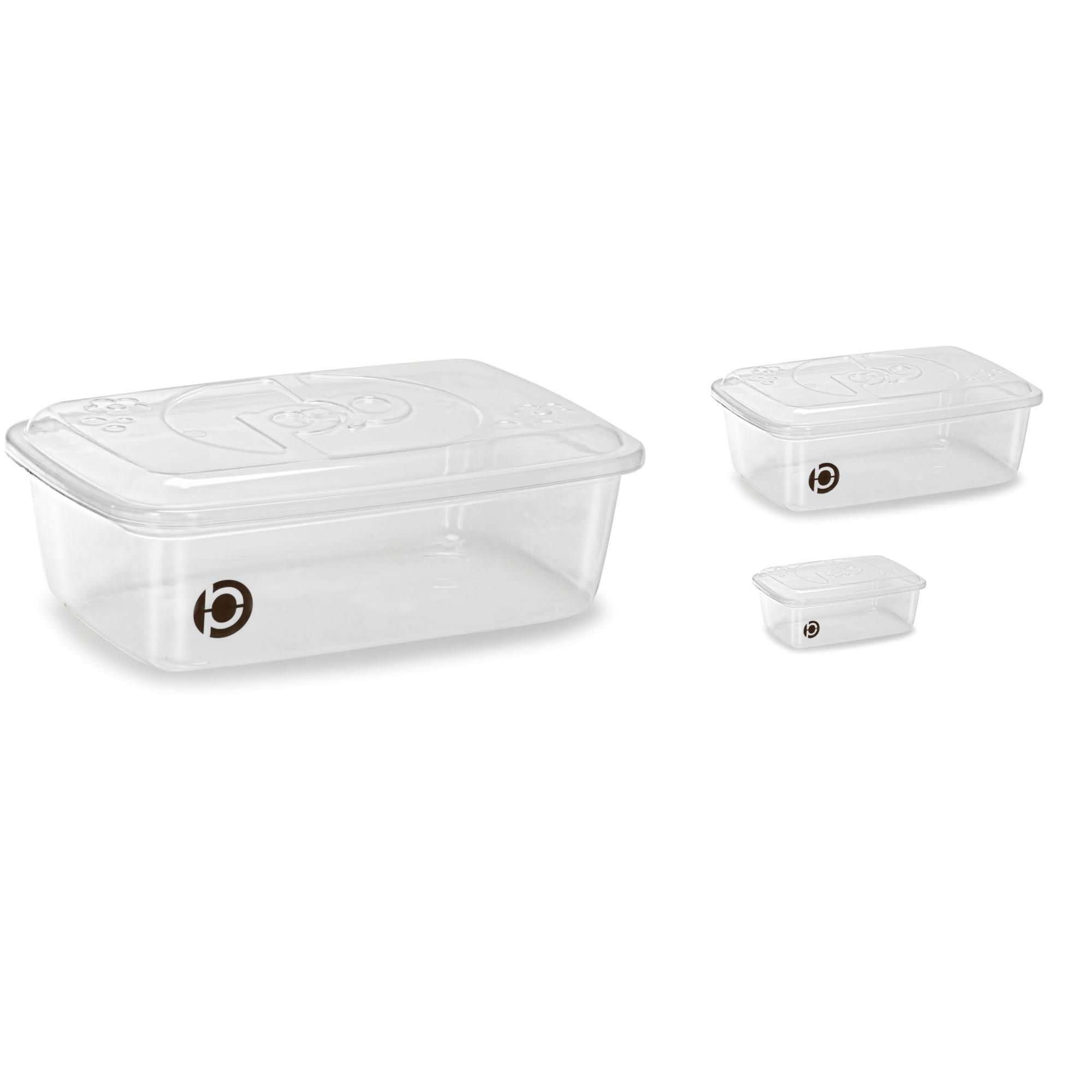 Kit 3 potes plásticos (estilo tupperware) Plastbon 1513
