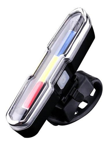 Kit Farol Bike Powerbank + Lanterna Traseira Recarregáveis