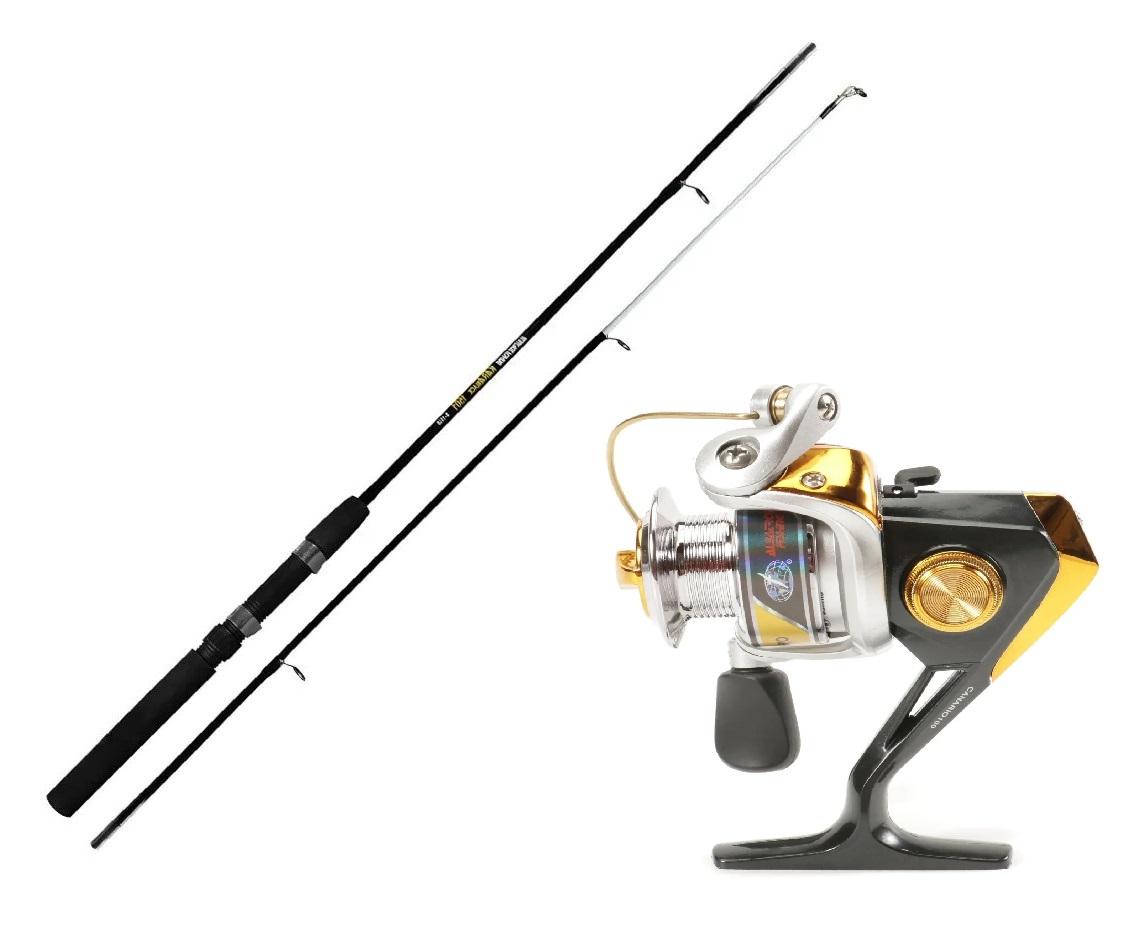 Kit Vara Kara Black + Molinete Albatroz Fishing Canário 100