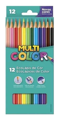 Lápis De Cor Faber Castell Multi Color Estojo C/ 12 Cores