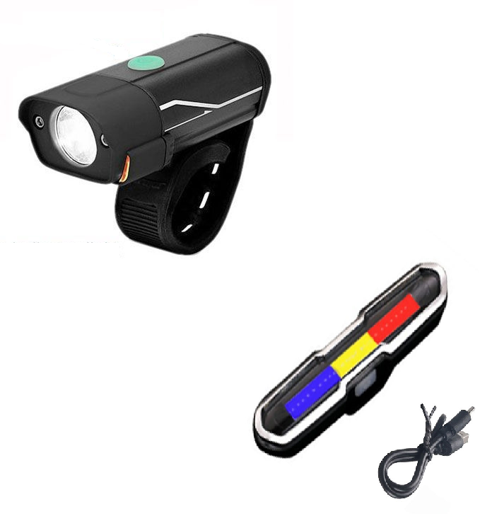 Luz Led Traseira De Advertência Para Bike Bateria 7 Modos