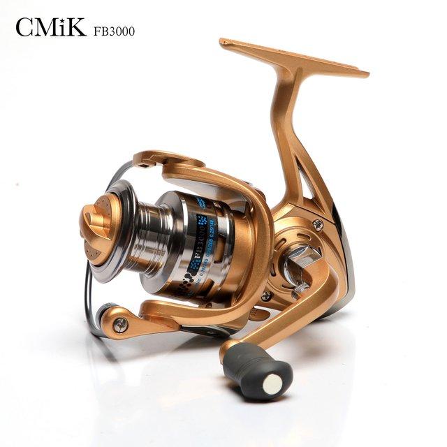 Molinete CMiK FB3000 direito/esquerdo Dourado