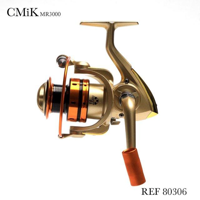 Molinete De Pesca Cmik Mr3000 Carretel Em Alumínio 5 Rolamentos