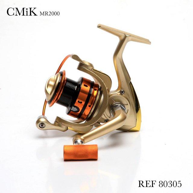 Molinete De Pesca Cmik Mr2000 Carretel Em Alumínio 5 Rolamentos